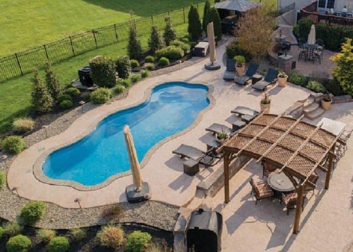 a fiberglass pool installation